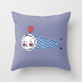 Little Fish Throw Pillow