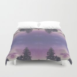 Purple Pines Duvet Cover