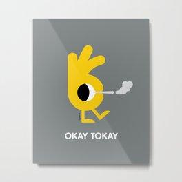 Okay Tokay Metal Print