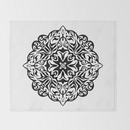 Polynesian style tattoo mandala Throw Blanket