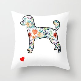 love poodles tee for ladies spouse gift Throw Pillow