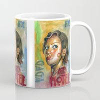ahs Mugs featuring AHS Hotel-LadyGaga as Young Elizabeth by Abhivision