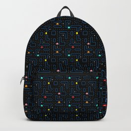 Pac-Man Retro Arcade Video Game Pattern Design Rucksack