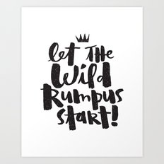 WILD RUMPUS Art Print