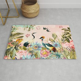 Landscapes of birds in paradise 2 Rug
