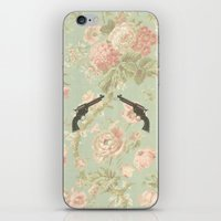 guns iPhone & iPod Skins featuring Guns & Flowers by fyyff