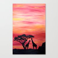 africa Canvas Prints featuring Africa by Monica Georg-Buller