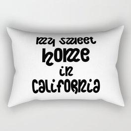 Sweet home in California Rectangular Pillow