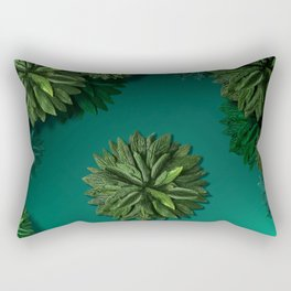 """Caribbean Peppermint"" Rectangular Pillow"