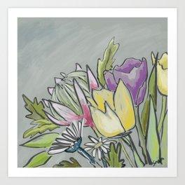 Protea bouquet Art Print