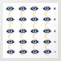 evil eye Art Prints featuring evil eye by sabrina