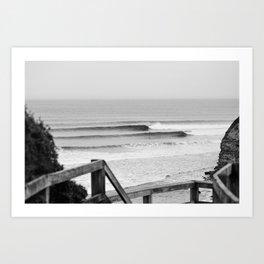 Wave of the day, Bells Beach, Victoria, Australia Art Print