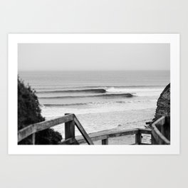 Wave of the day, Bells Beach, Victoria, Australia Art Print