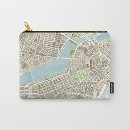 Boston Sepia Watercolor Map Carry-All Pouch