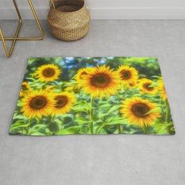 Sunflowers Memories Rug