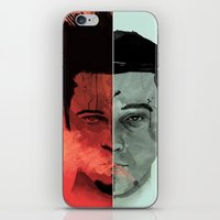 tyler durden iPhone & iPod Skins featuring Tyler Durden V. the Narrator by qualitypunk