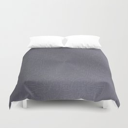 Cool Brushed Metal with a Stamped Design Duvet Cover