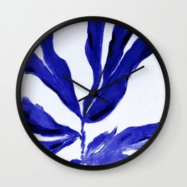 Coral navy nautical cobalt blue Wall Clock