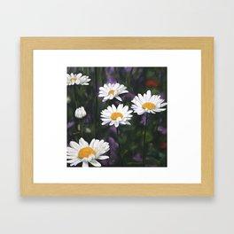 Garden Daisies Framed Art Print