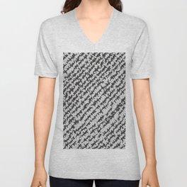 Modern White Black Popular Trendy Abstract Pattern Unisex V-Neck
