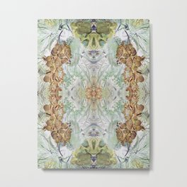 Orchid Floral Mirrored Pattern. Metal Print