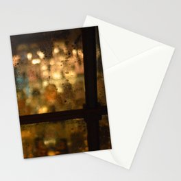 Late Night Bar in New York Stationery Cards