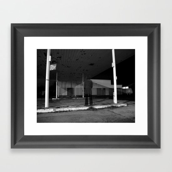 then just for a moment... I would materialise - VACANCY zine Framed Art Print