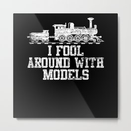Model Train Play Metal Print