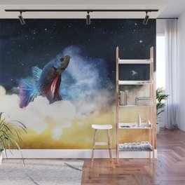 Fighting Fish Midnight Sky Wall Mural