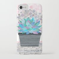 succulent iPhone & iPod Cases featuring succulent by Asja Boros