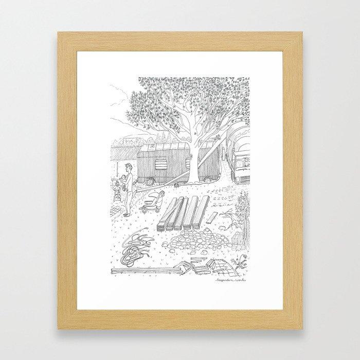 beegarden.works 015 Framed Art Print
