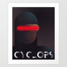 Vintage Heroes - Cyclops Art Print