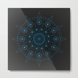 Spiked up Mandala Metal Print