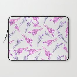 Neon pink lilac modern watercolor floral berries pattern Laptop Sleeve
