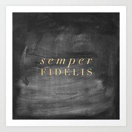 Semper Fidelis Art Print