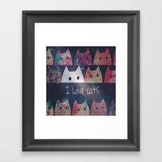 cat-476 Framed Art Print