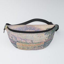 The Tugboat, Canal in Samois Fanny Pack