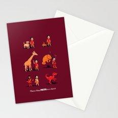 Please Keep Pets on a Leash Stationery Cards