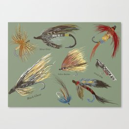Fly fishing with hand tied lures! Canvas Print