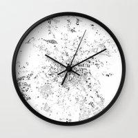dublin Wall Clocks featuring DUBLIN by Maps Factory