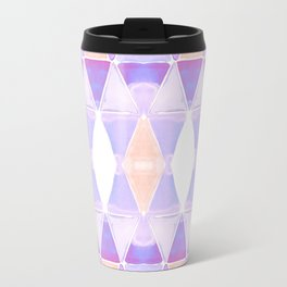 Art Deco Triangles Light Purple Travel Mug