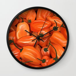 Habanero Peppers Wall Clock