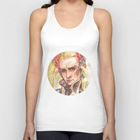 thranduil Tank Tops featuring Thranduil by Giulia Colombo