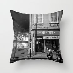 Montana Tattoos Throw Pillow