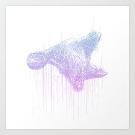 Line Bear Art Print