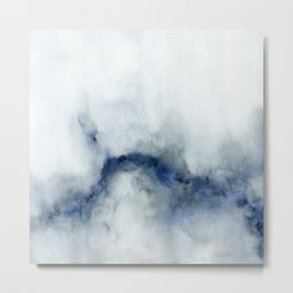 Indigo Abstract Painting | No.3 Metal Print