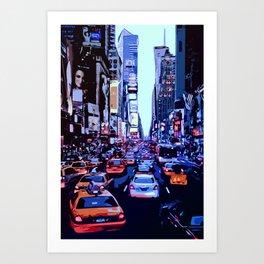 Through the streets of New York City Art Print