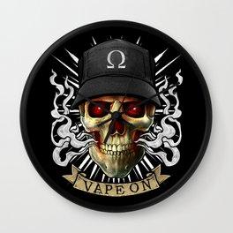 Vaping Skull - Vape On - Cloud Chaser - Vaper Wall Clock