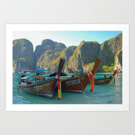 Maya Bay Art Print