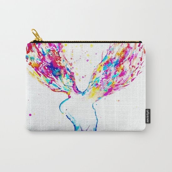 Rainbow Wings Carry-All Pouch